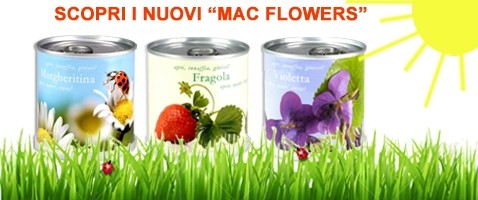 Nuovi Microgiardini Mac Flowers Fiori in lattina